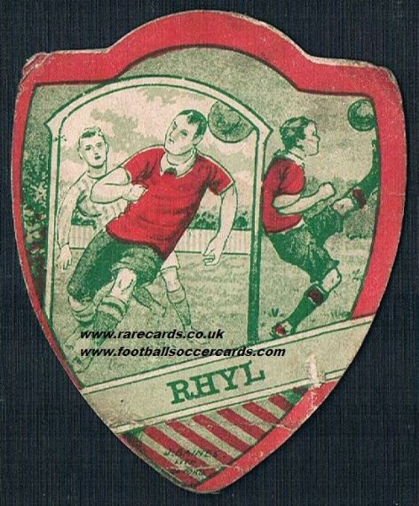 1910 Rhyl F.C. football card Baines